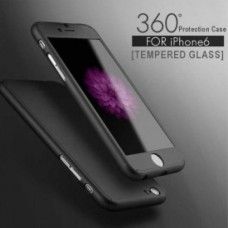 360 Degree Protection Ultra Thin Case Compatible For iPhone 6/6S - Black