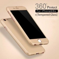 360 Degree Protection Ultra Thin Case Compatible For iPhone 6/6S - Gold