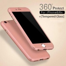 360 Degree Protection Ultra Thin Case Compatible For iPhone 6/6S - Rose Gold