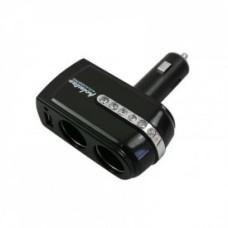 1 USB Port 2 Way WF-201 Car Cigarette Lighter